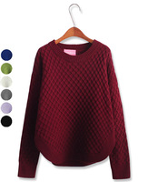 2013 fashion vintage knitting pineapple needle pullover sweater female