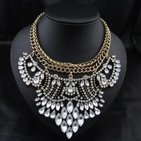 Wholesale Brand Jewelry Luxury Fashion Women Costume Boho Necklace Vintage Exaggerate Statement Choker Pendant Necklace