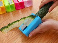 1pcs Carrot Cucumber Sharpener Peeler Kitchen Tool Vegetable Fruit Curl Slicer Hot! 95593