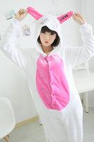 Lovely BUNNY Animal cosplay costumes fleece onesie pajamas All In One Sleep suit Romper unisex pajamas factory price