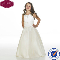 Goingwedding A-Line Satin Sleeveless Flower Girl Dresses For Weddings HT005