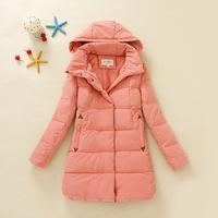 2014 New Women's Hooded All-match Jacket for Women, Popular Female Winter Coat,Long Hoodied Warm Female Overcoat,New Arrival