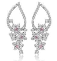 vintage 18k white gold plated earring for women fashion earrings 2014 Bohemia earring for women silver earrings M142
