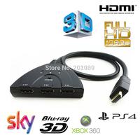 3 Port 1080P HDMI AUTO Switch Splitter Switcher HUB Box Cable LCD HDTV