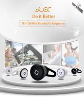 YE-106 3pcs/lot Bluetooth Headset Earphone Super Mini Patent Design Medical Material Five Color for option