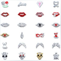 Women For Nail Art Supplies Gel Nail Charms Jewelry Lips / Beard Metal Alloy Rhinestones Decoration(24 Styles)