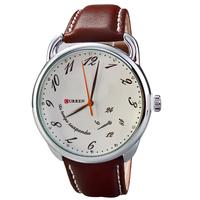2014 New Fashion Casual Men's Watches Curren Brand Leather Strap Quartz Watch Men Dress Wristwatches