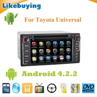 2 Din Android Head Unit Car DVD Player GPS Radio For Toyota Universal with WIFI/Ipod Player Function /RDS /Free 8G Card and Map