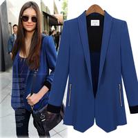 D14 New Women Autumn plus size S-XL Chiffon Blends stylish comfortable jacket coat Blazers Female Slim Small Suit outwear jacket