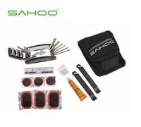Free shipping SAHOO NEW Multifunction Tools MTB Road Bicycle Tire Repair Kits Bag,Bike tool kits Pouch  Mini bag