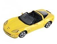 F070104 -RASTAR 1/14 Authorized Chevrolet Corvette C6 G5 6-Channel RC Car (Yellow)