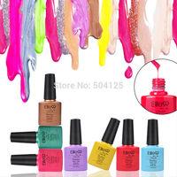 5PCS/lot 7.3ml DIY 2014 Color UV Gel led Polish Soak-off Nail Gel gelishgel Shellac Fashion for Nail Art 73 colors