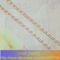 BHH3613 Copper 18K gold plated Russia cc color necklace 55CM