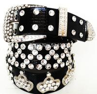Discounted wholesale leather belt Ms. A diamond crown diamond belt accessories queen temperament belt 13