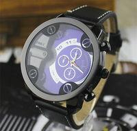 uxury Brand Casual Watches Men Leather Strap Big Dial Clock Fashion Wristwatch Quartz Watch Original Women Boy Wristwatch