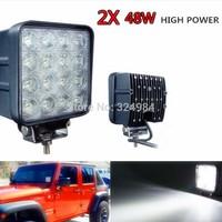 High Power 2PCS 48W LED Work Light 12V 24V Flood Lamp For Tractor Truck SUV UTV ATV Offroad