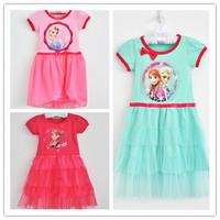 Choose Size Frozen Tutu Dress Princess Elsa & Anna Party Children Dress