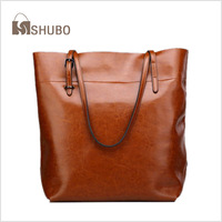 SHUBO Cowhide Leather Handbag Women 2014 Vintage Genuine Leather Bags Women Totes 7 Colors Shoulder Bag Bolsas Femininas SH003