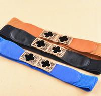 New Fashion Retro CLOVER Cummerbund Belts For Women lady's trench cintos femininos strap decoration waist belt