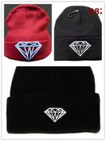 2014 embroider beanies  Diamond Beanie Black Men Women hip hop new arrival hot sale wholesale 26