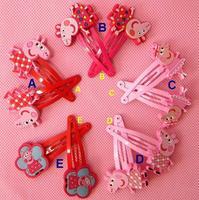 Peppa Pig Hair Clip cartoon children's hair clip hair Grils ornaments hair accessories Peppa Pig Chirstmas Gift