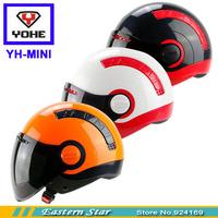 2014 YOHE mini Motorcycle helmet , Open face capacete,Fashion Scooter summer helmets,Brand moto half helmet
