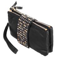 2014 free shipping new arrive Hot selling PU Leather fashion designer Rivet bag women wallet Bag fashion women's clutches