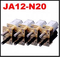 JA12-N20 DC Gear Motors of Miniature Low-speed Motor Robot with Metal Gear Box deceleration speed motor car motor 3pcs