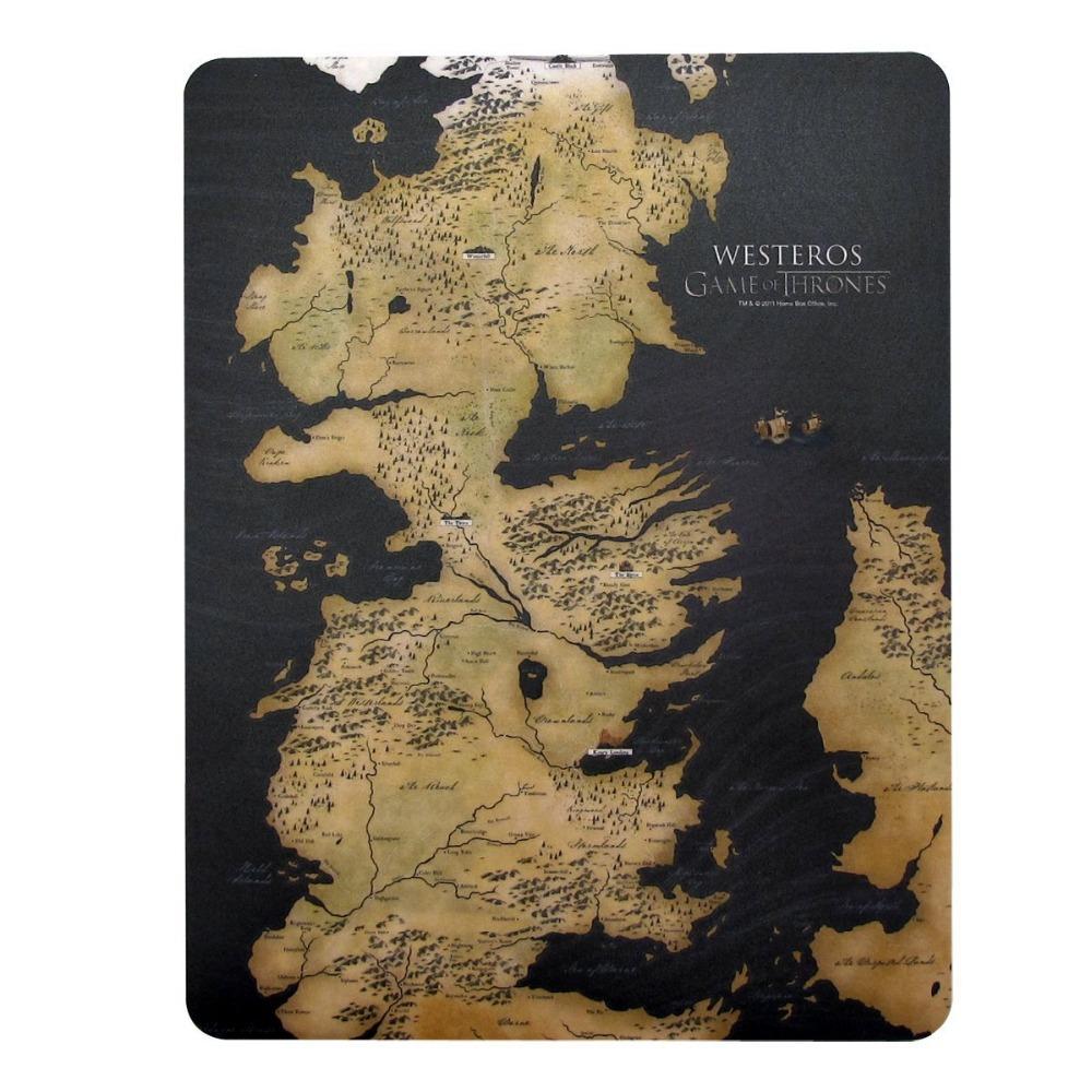 Game of Thrones Westeros mapa bonito vintage engraçado retro padrão personalizado grande mouse pad tapetes único decoração presente mais novo Game(China (Mainland))