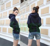 4 Color 2014 Autumn And Winter Women Long Sleeve Set Of Finger Hoodie Cardigans Fleece Zipper Hooded Cardigan Jacket