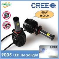 2014 New 1 Set 40WX2 3600LMX2 9005 HB3 CREE XT-E LED All in One Headlamp Auto Fog Bulbs 5000K 6000K 8000K H4/H11/9006