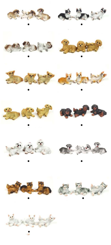 Free Shipping !3pcs PET Dog Cute Pet animal Pug Poodle Chihuahua schnauzer Corgi CAT~ 1/12 Scale Dollhouse Miniature Furniture(China (Mainland))