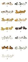 Free Shipping !3pcs PET Dog Cute Pet animal  Pug Poodle Chihuahua schnauzer Corgi  CAT~ 1/12 Scale Dollhouse Miniature Furniture