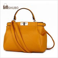 SHUBO Designer Genuine Leather Bags Women Fashion Handbags 11 Colors Brand Women Messenger Bags Tote Bolsas Femininas SH005