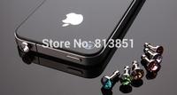 100pcs/lot Universal Diamond Rhinestone Dust Plug 3.5mm Earphone Jack Plug For iPhone5 4 iPad Samsung HTC Phone