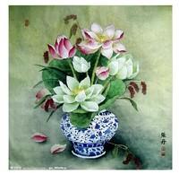 Free shipping DIY Diamond Painting square drill full diamond lotus vase resin Rhinestone Diamond Embroidery Set