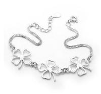 925 sterling silver bracelet wholesale Hot sale clover bracet for woman  Hot sale high quality low price bracelets