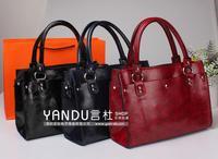Korean version of the new winter female European and American retro fashion handbag shoulder bag lady bag