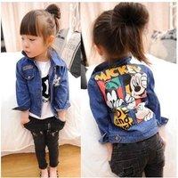 Autumn 2014 Cartoon Children Denim Shirt / Denim Jacket  Boys and girls children's wear cowboy coat children's Jean jacket 5218
