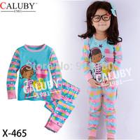 6sets/lot baby girls Doc mcstuffins long sleeve cotton pyjamas set kids pajamas sleepwear/nightgown/home wear