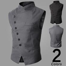 The autumn vest male Korean tide slim suits vest men small (China (Mainland))