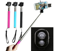 500sets Monopod +Clip Holder+ Wireless Bluetooth Camera Remote Shutter Control Self-timer for iPhone Samsung Android Selfie