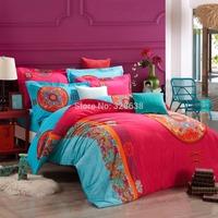 3.7kg pure cotton comforter bedding set king size kids autumn&winter thick duvet cover set bedspread jogo de cama+2 pillowcases