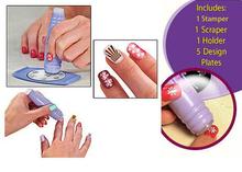 New DIY 34 design 5pcs template+3 accessaries=1set Nail Art Stamping Kit  Nail Polish tools Pro women Manicures Salon express