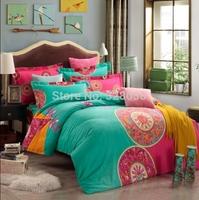 Kids autumn&winter thick comforter bedding set king size 100% cotton sanding quilt/bed/duvet cover set bedclothes+2 pillowcases