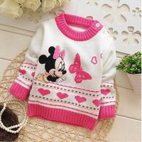 2014 New winter autumn infant baby girl cartoon minnie sweater child sweaters baby sweater children outerwear sweaters