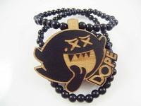 4H543 Min order 7usd Fashion wood necklace DOE Pendant Wooden pendant necklace Hip-Hop Necklace Fashion Fine Wooden Necklace