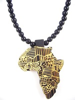 4H540 Min order 7usd Fashion natual wood hiphop necklace Africa Good Wood Necklace Rosary Beads Wooden Necklace Letter