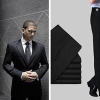 (Black&Navy Blue)Brilliant Men's Suit Formal Business Attire Dinner Party Groom Dress Classical Boy's Suit Sets(Top+Pants)Supply