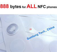 10x NFC Tag Stickers 888 bytes Large Memory Capacity for ALL NFC mobile Galaxy S5 S4 Mega6.3 Nexus 5 wp8 Lumia RFID NTAG216 NDEF